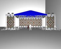 Двухскатная мобильная крыша для сцены размером 8х6