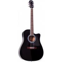 Электроакустическая гитара Aria AW 20CE BK
