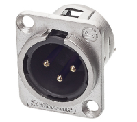 Разъем панельный XLR-M Seetronic J3F2C
