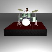 Подиум под барабаны 3х2м